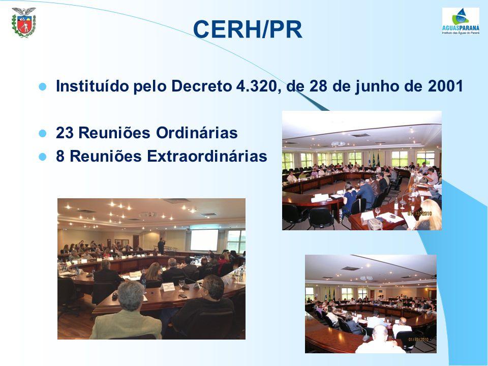 CERH/PR Instituído pelo Decreto 4.320, de 28 de junho de 2001