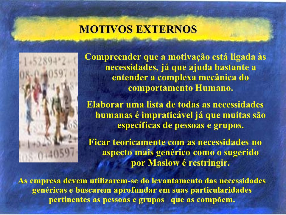 MOTIVOS EXTERNOS