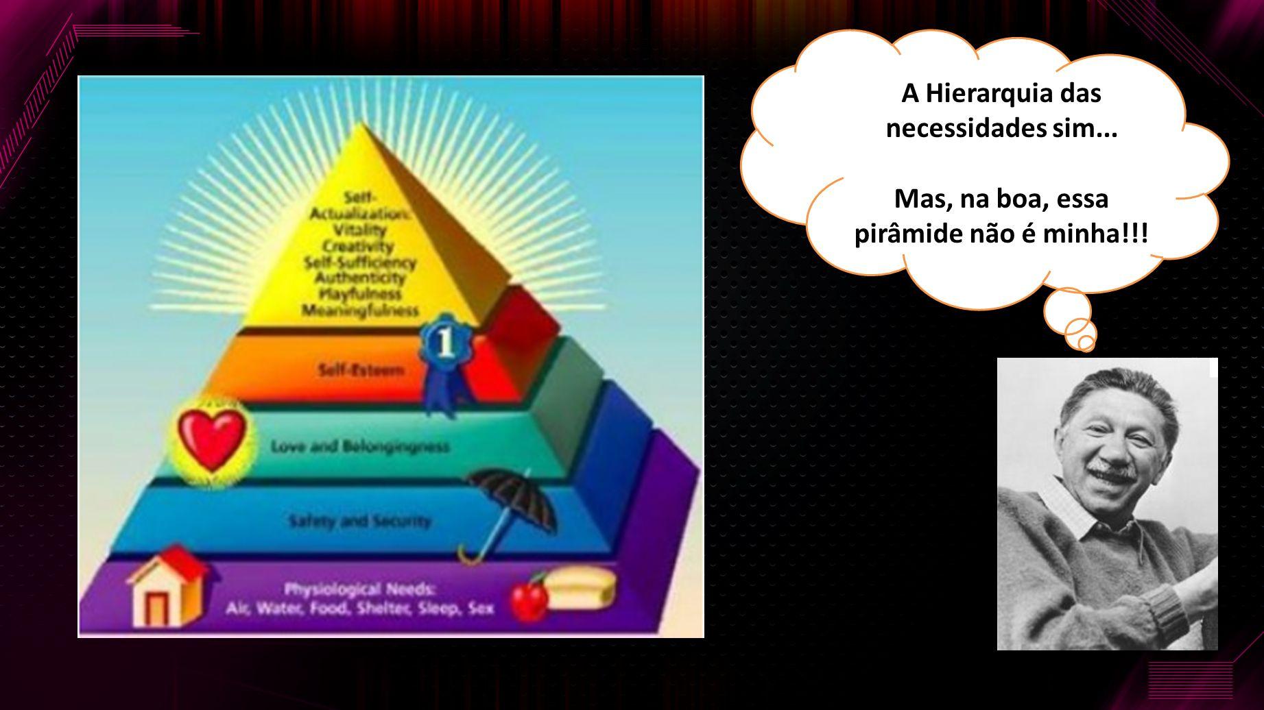 A Hierarquia das necessidades sim...
