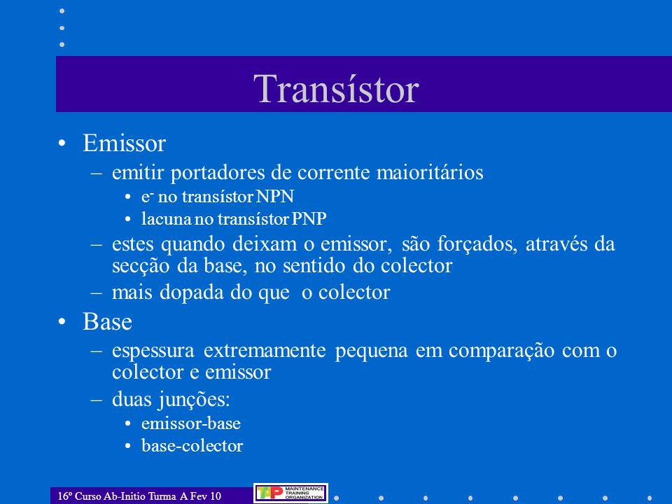 Transístor Emissor Base emitir portadores de corrente maioritários