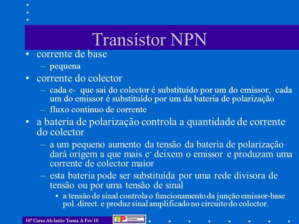 Transístor NPN corrente de base corrente do colector