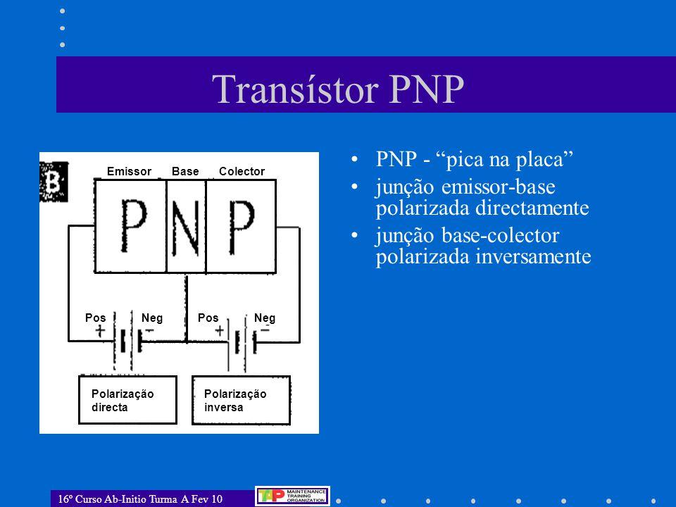 Transístor PNP PNP - pica na placa
