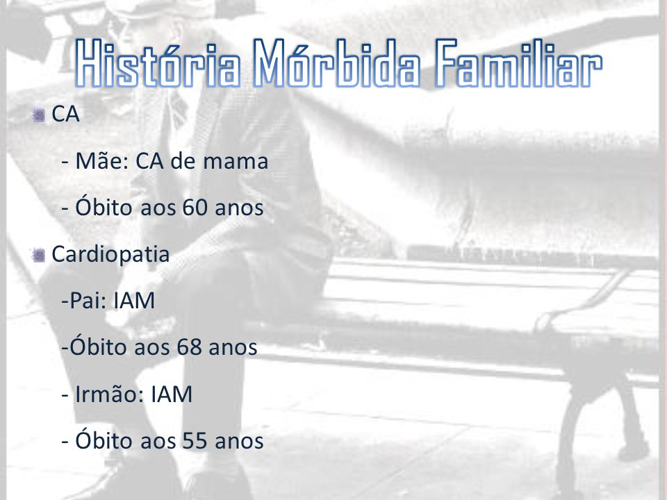 História Mórbida Familiar