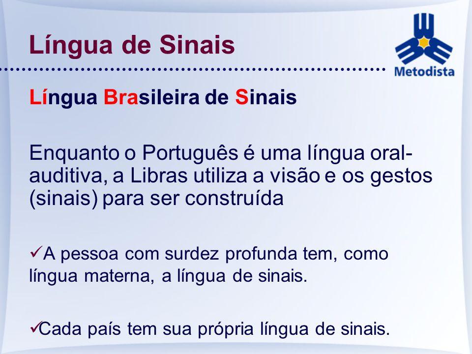 Língua de Sinais Língua Brasileira de Sinais
