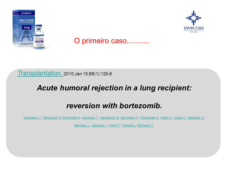 Acute humoral rejection in a lung recipient: