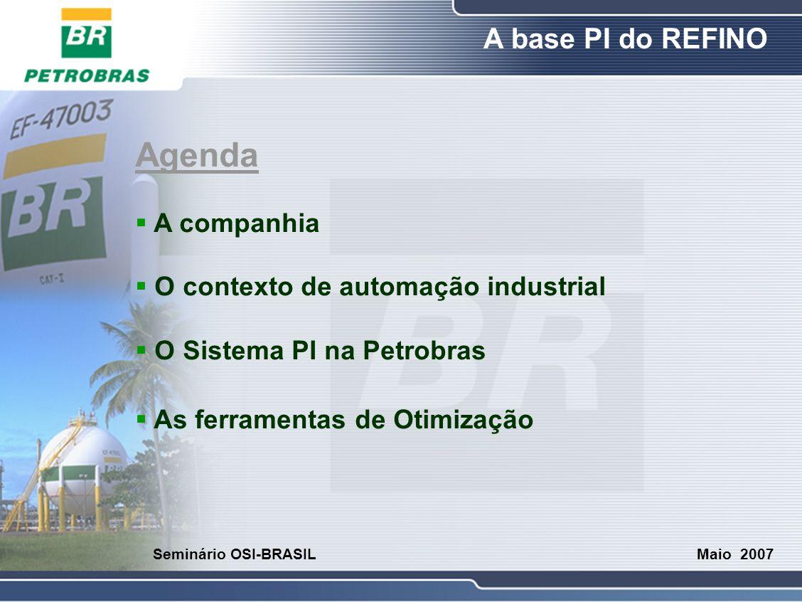 Agenda A companhia O contexto de automação industrial