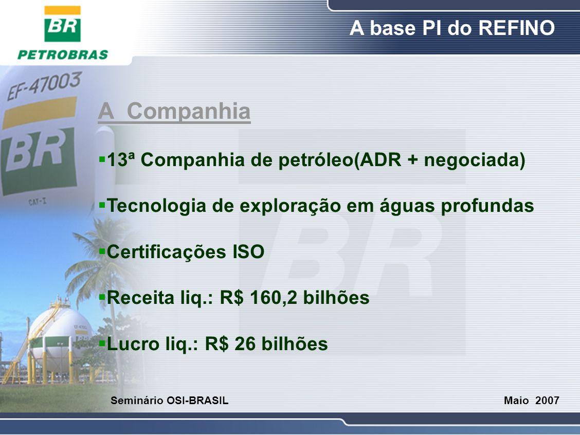 A Companhia 13ª Companhia de petróleo(ADR + negociada)