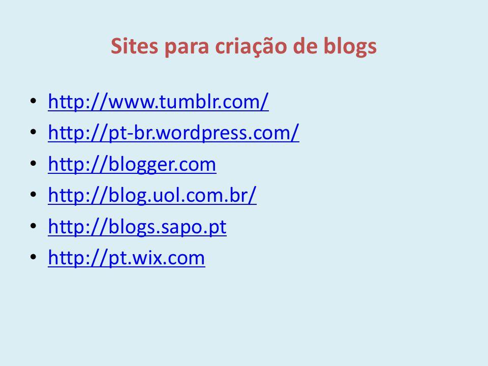 Sites para criação de blogs