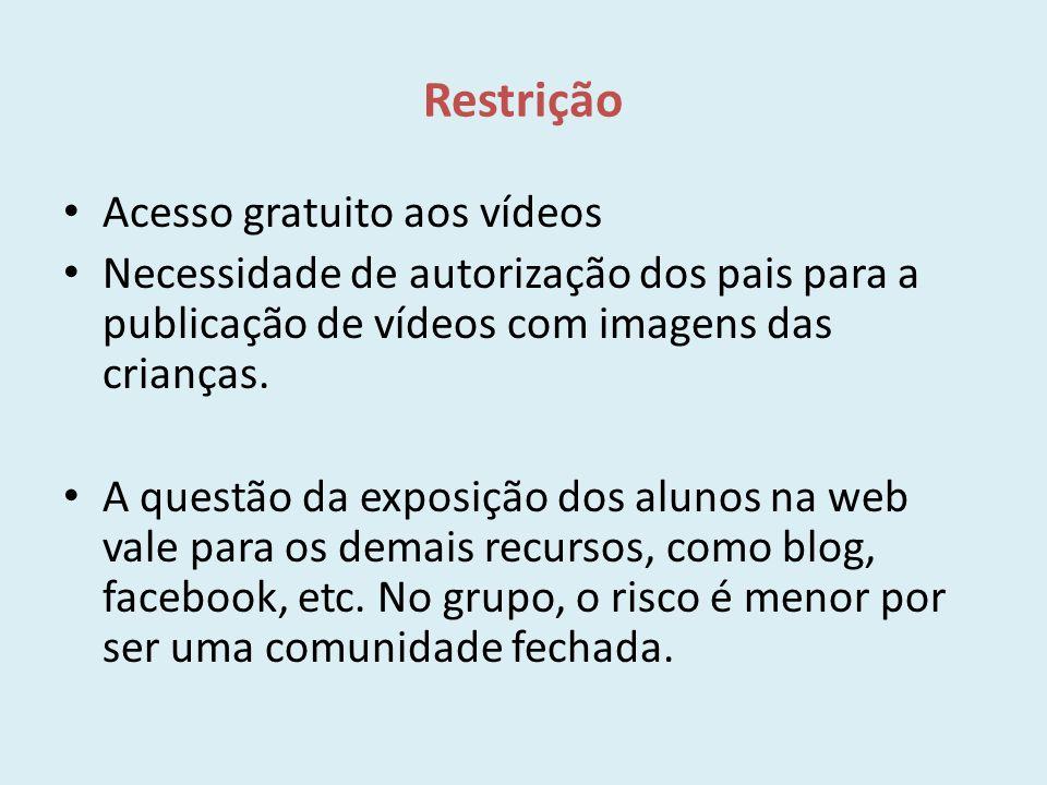 Restrição Acesso gratuito aos vídeos