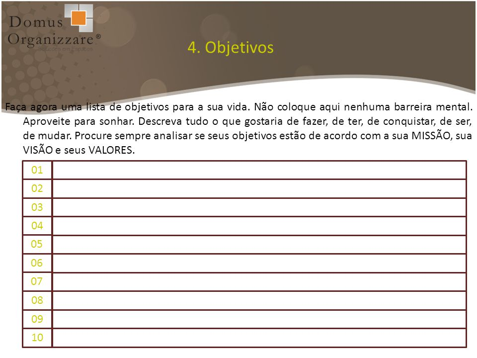 4. Objetivos