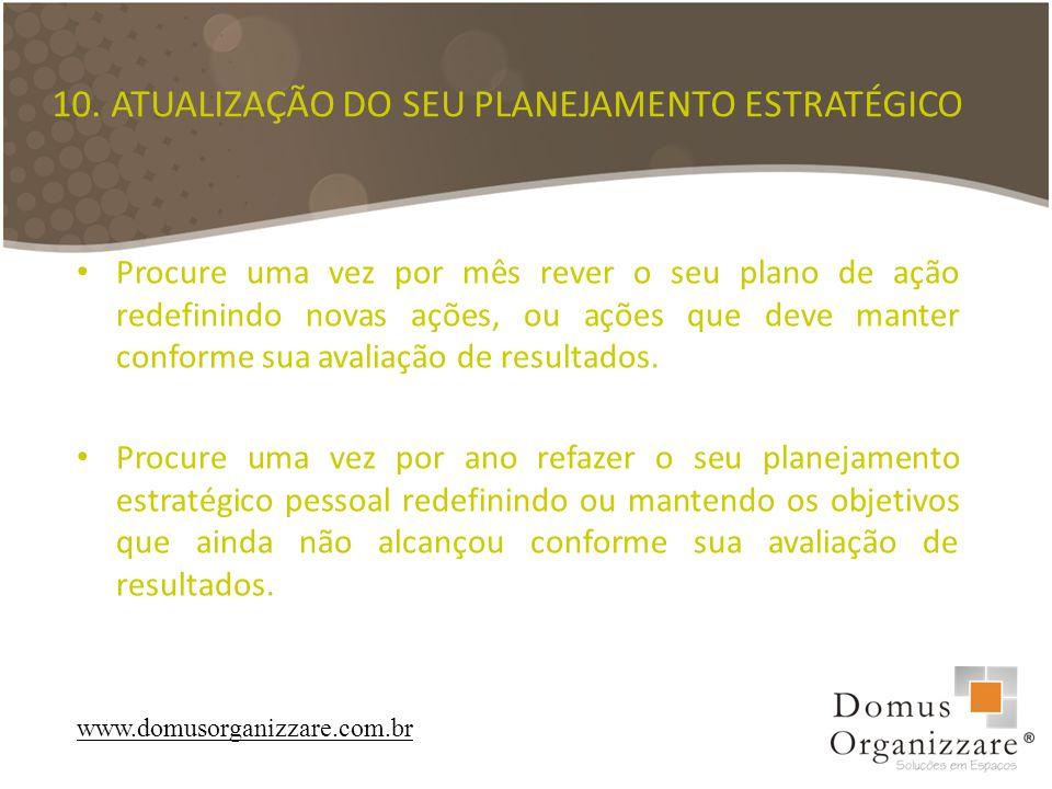 10. ATUALIZAÇÃO DO SEU PLANEJAMENTO ESTRATÉGICO