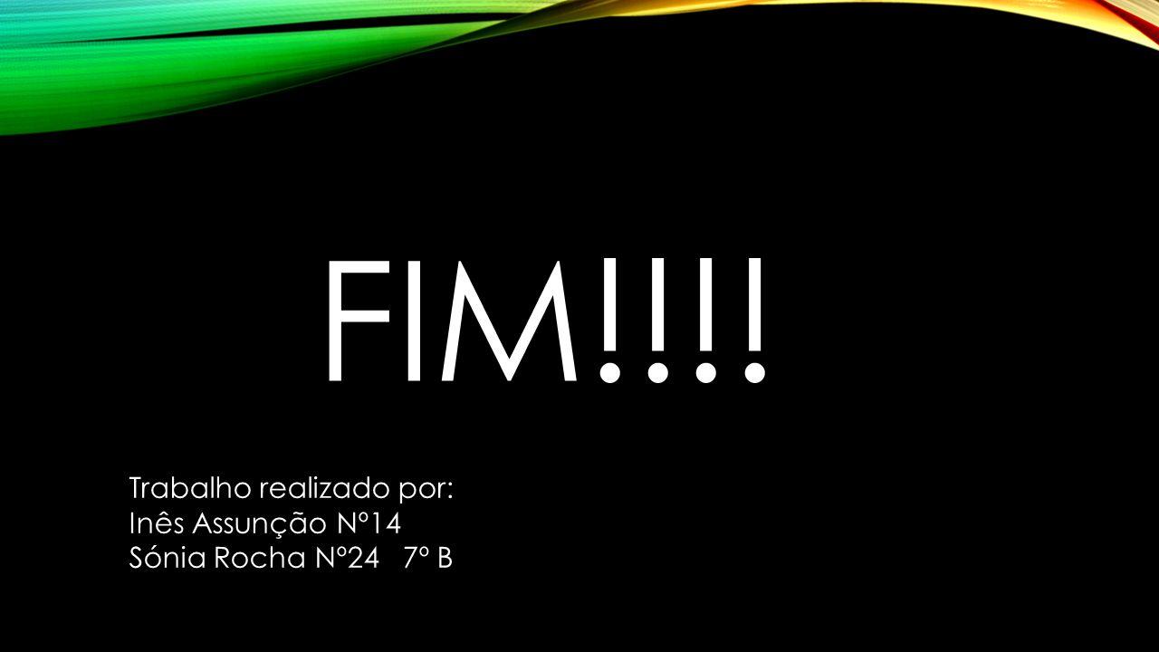 FIM!!!! Trabalho realizado por: Inês Assunção Nº14