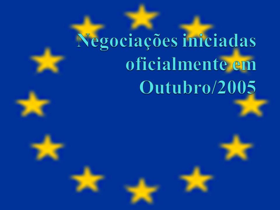 Negociações iniciadas oficialmente em Outubro/2005