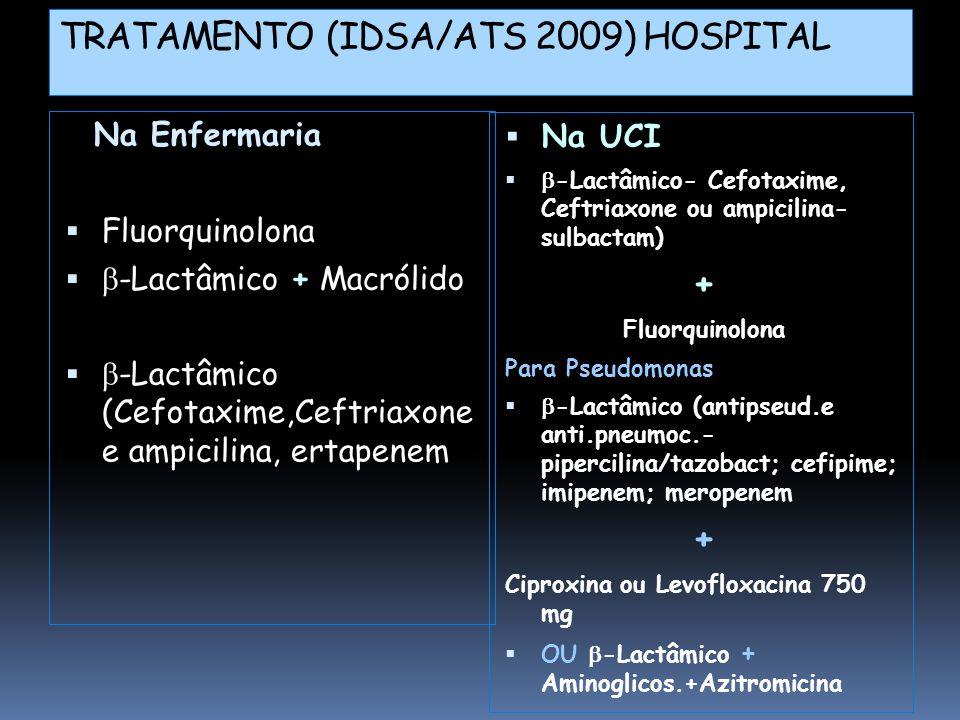 TRATAMENTO (IDSA/ATS 2009) HOSPITAL