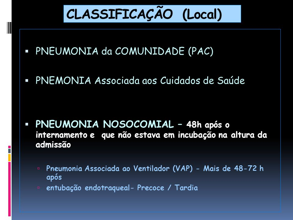 CLASSIFICAÇÃO (Local)