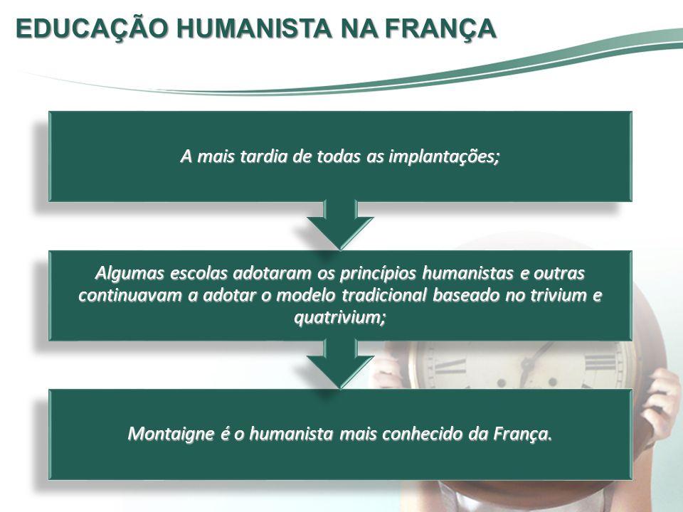 EDUCAÇÃO HUMANISTA NA FRANÇA
