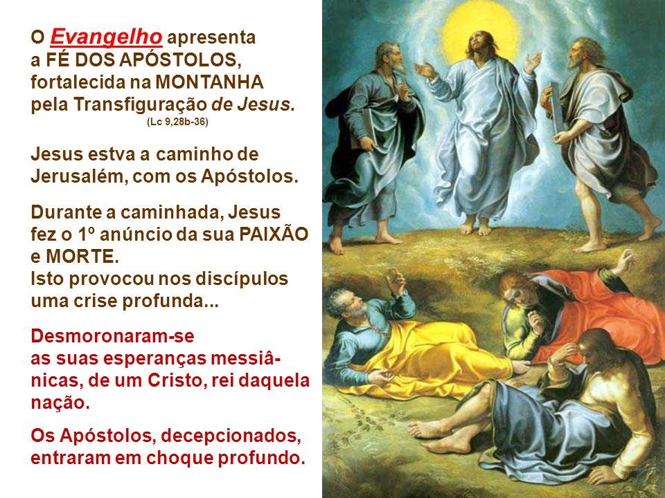 O Evangelho apresenta a FÉ DOS APÓSTOLOS,