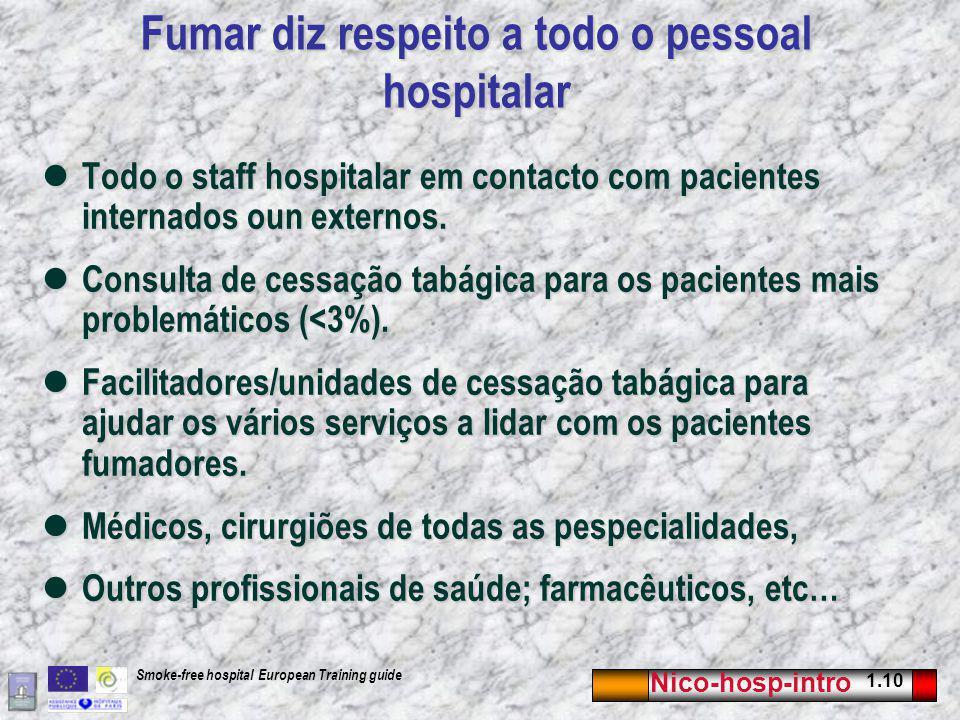 Fumar diz respeito a todo o pessoal hospitalar
