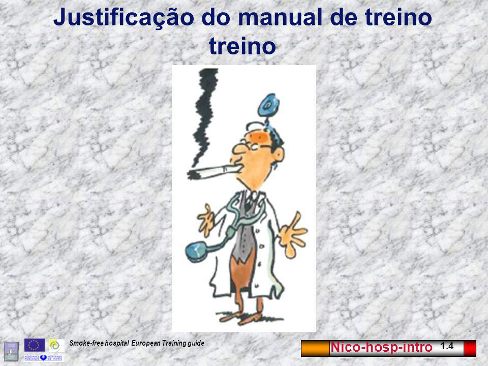 Justificação do manual de treino treino
