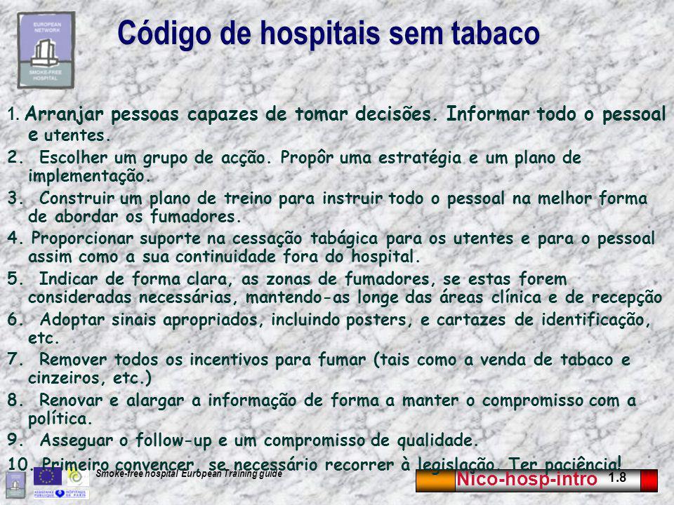 Código de hospitais sem tabaco
