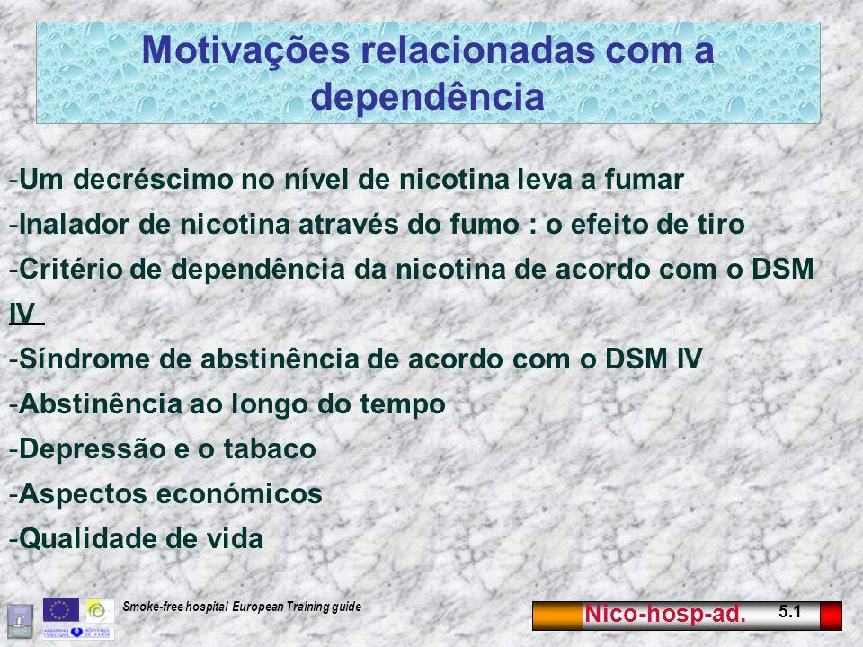 Motivações relacionadas com a dependência