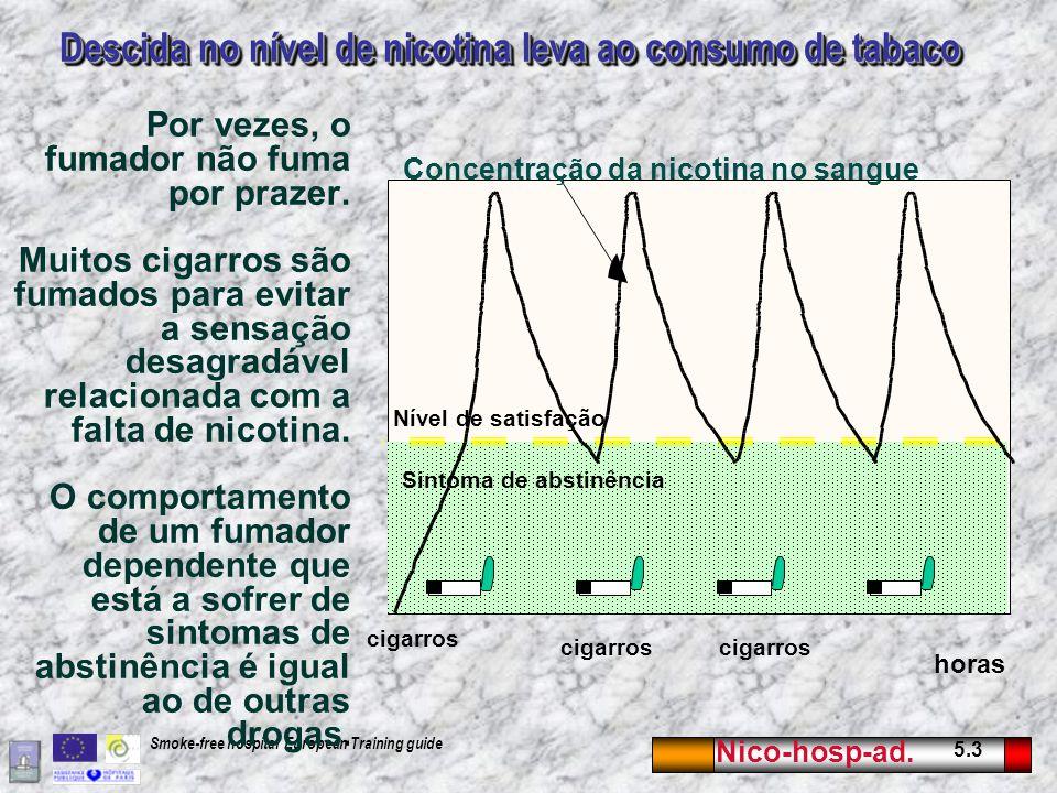 Descida no nível de nicotina leva ao consumo de tabaco