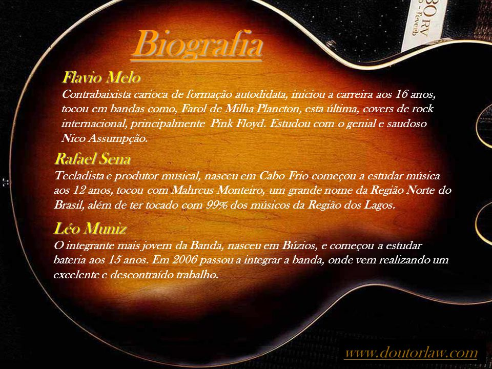 Biografia Flavio Melo Rafael Sena Léo Muniz www.doutorlaw.com