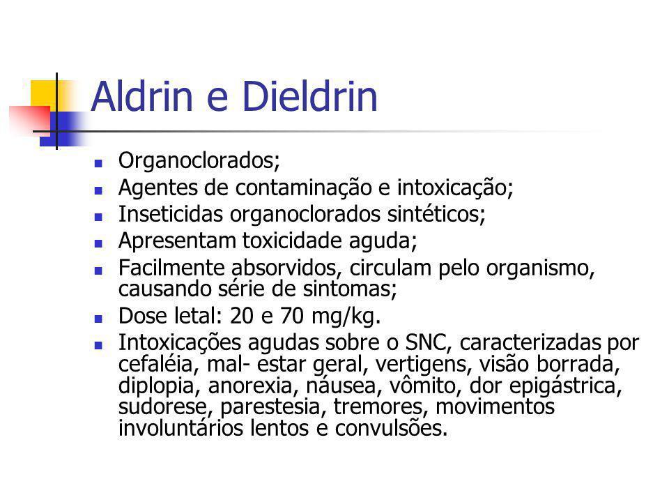 Aldrin e Dieldrin Organoclorados;