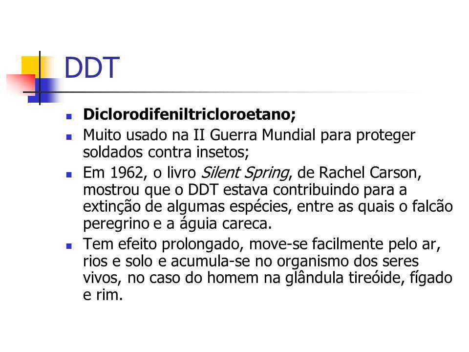 DDT Diclorodifeniltricloroetano;