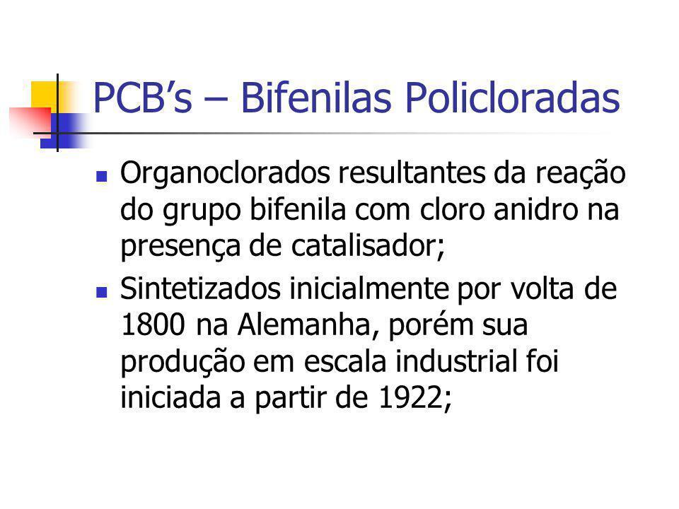PCB's – Bifenilas Policloradas
