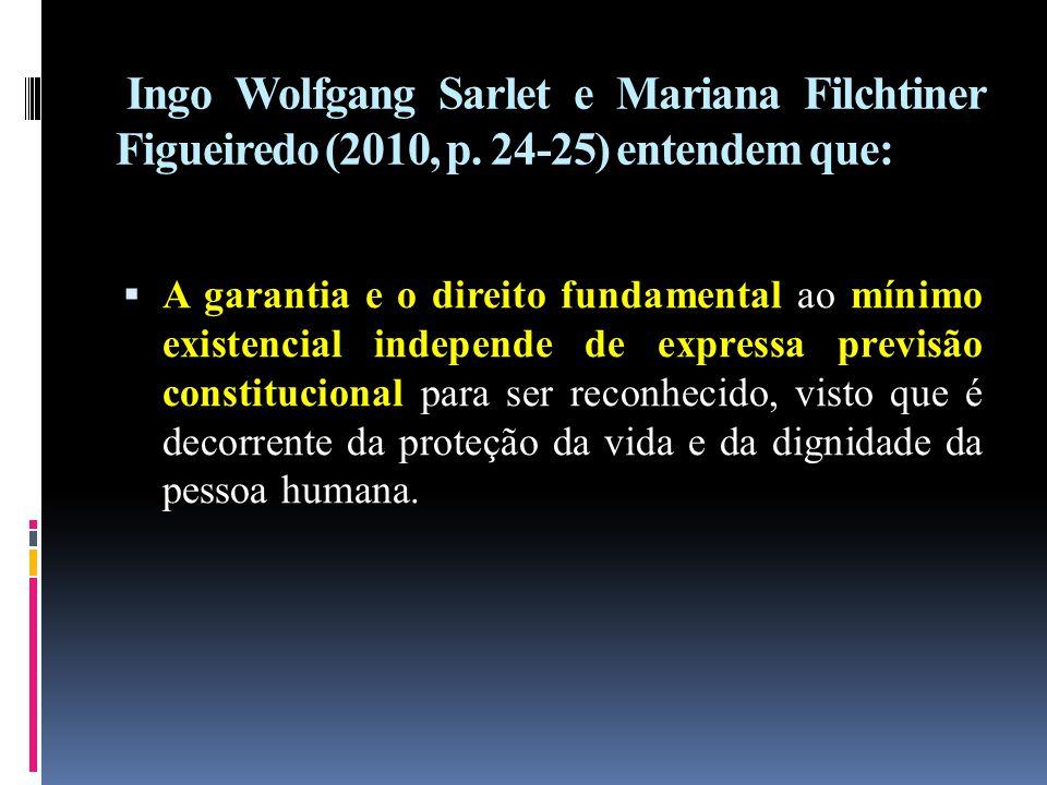Ingo Wolfgang Sarlet e Mariana Filchtiner Figueiredo (2010, p