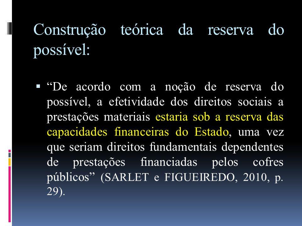 Construção teórica da reserva do possível:
