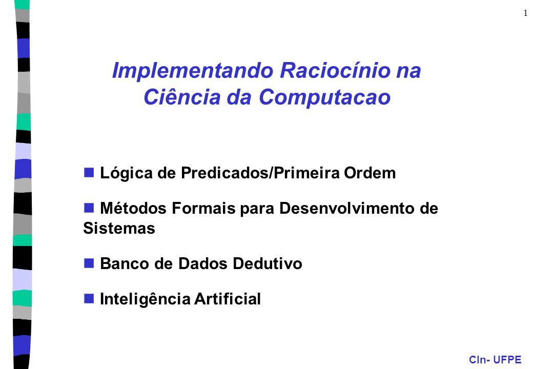 Implementando Raciocínio na Ciência da Computacao