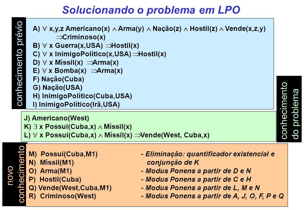 Solucionando o problema em LPO