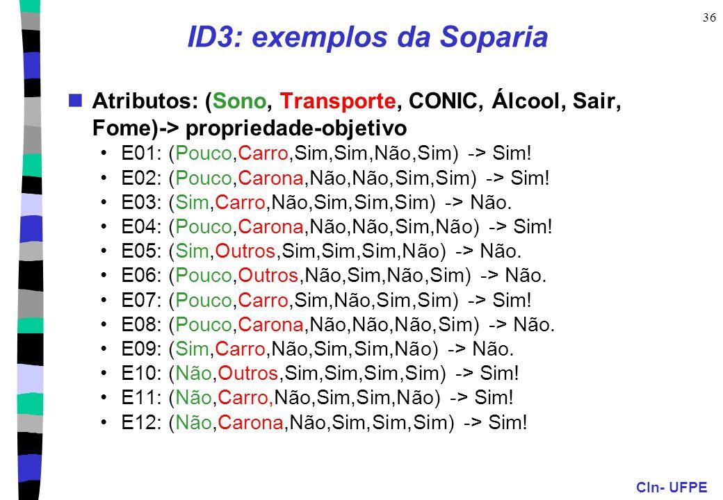 ID3: exemplos da Soparia