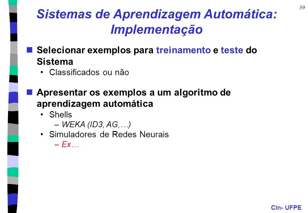 Sistemas de Aprendizagem Automática: Implementação