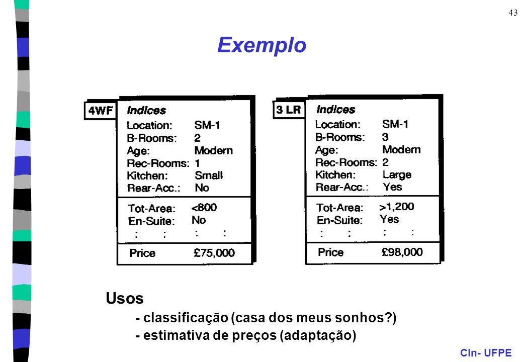 Exemplo Usos - classificação (casa dos meus sonhos )