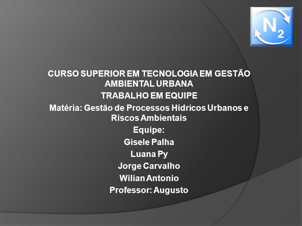 CURSO SUPERIOR EM TECNOLOGIA EM GESTÃO AMBIENTAL URBANA