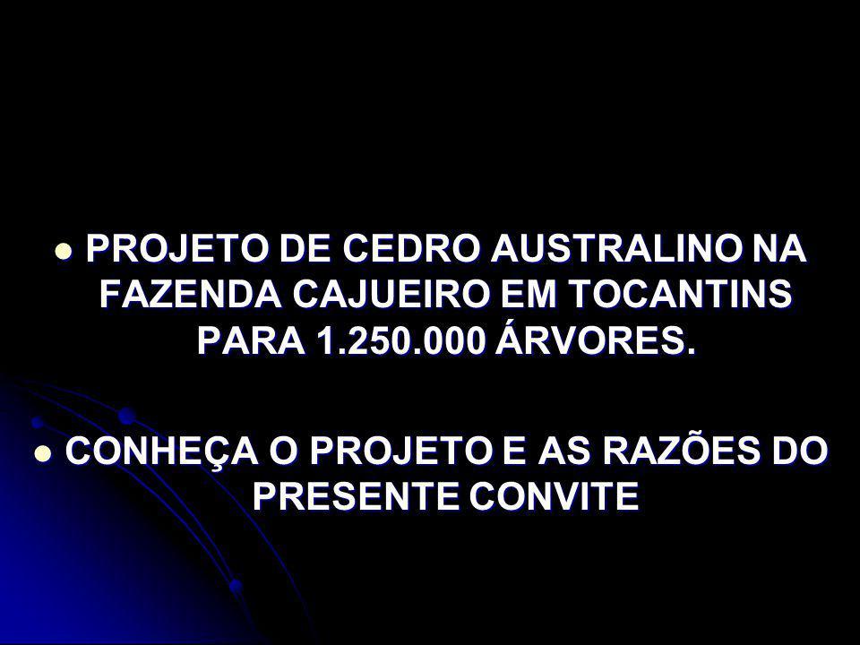 CONHEÇA O PROJETO E AS RAZÕES DO PRESENTE CONVITE