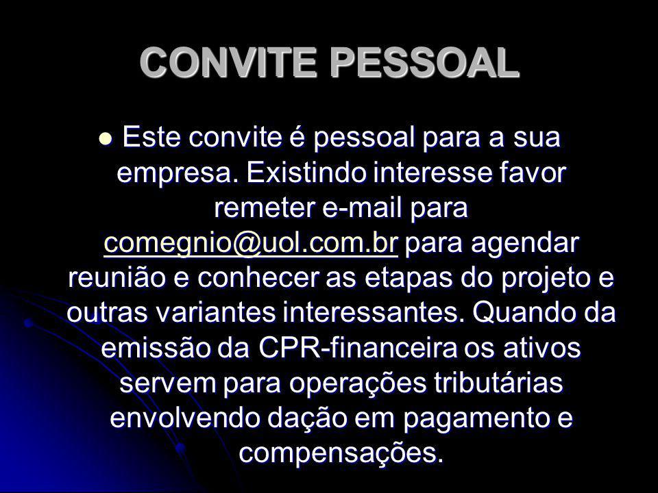 CONVITE PESSOAL