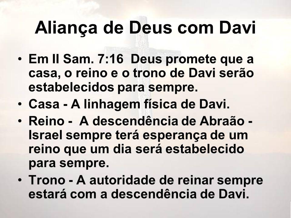 Aliança de Deus com Davi