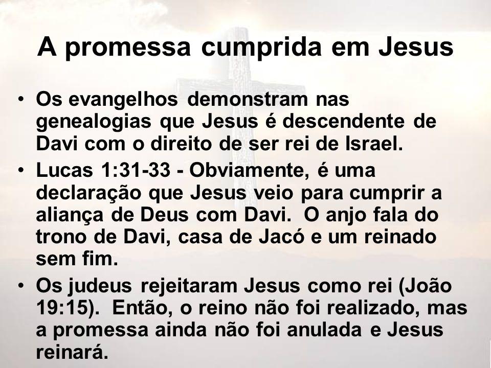 A promessa cumprida em Jesus