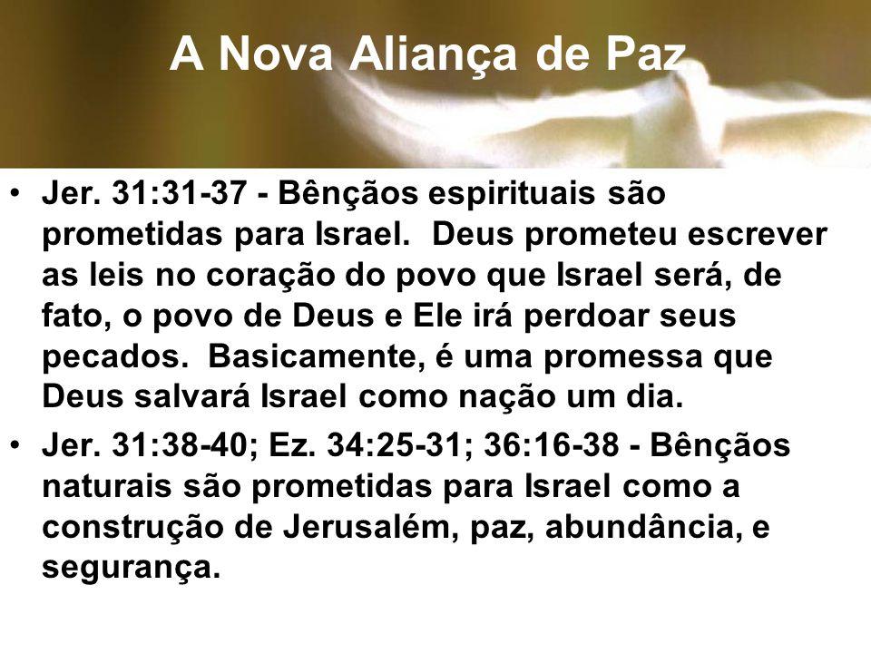 A Nova Aliança de Paz.