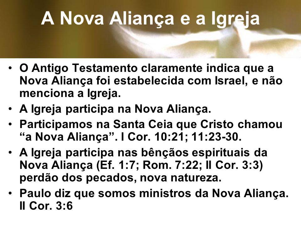 A Nova Aliança e a Igreja