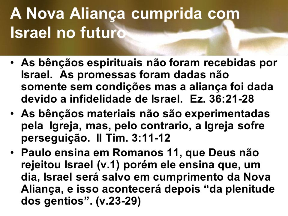 A Nova Aliança cumprida com Israel no futuro