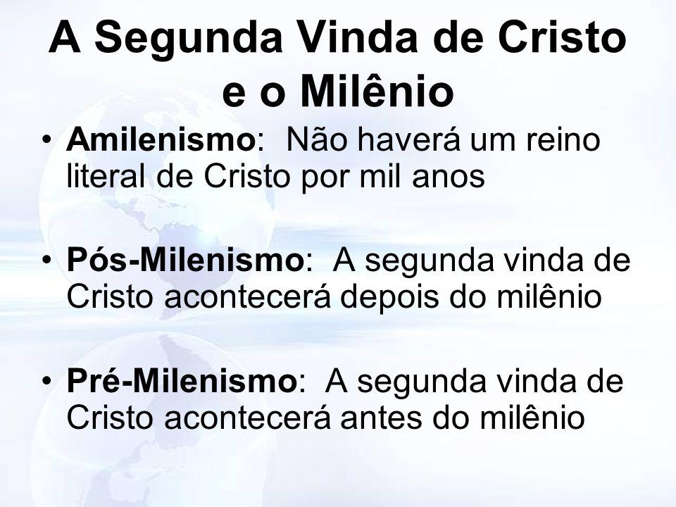 A Segunda Vinda de Cristo e o Milênio
