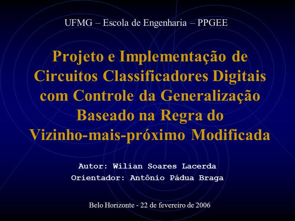 Autor: Wilian Soares Lacerda Orientador: Antônio Pádua Braga