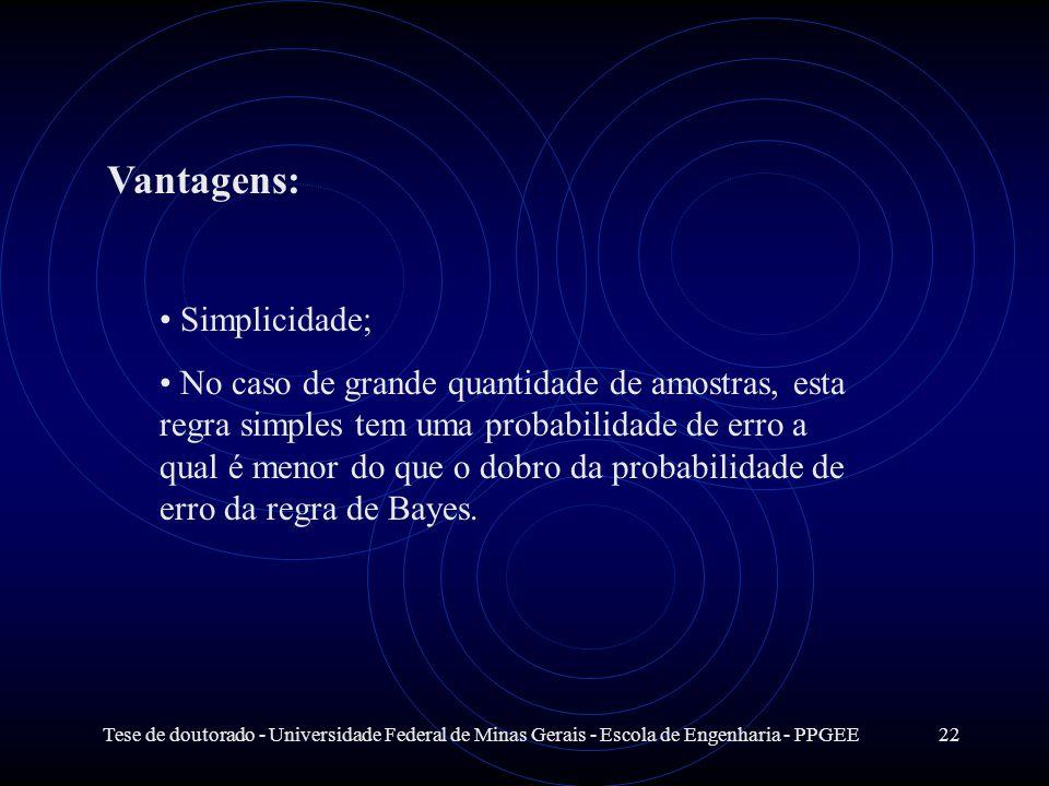 Vantagens: Simplicidade;