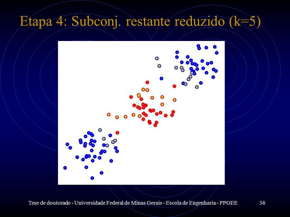 Etapa 4: Subconj. restante reduzido (k=5)