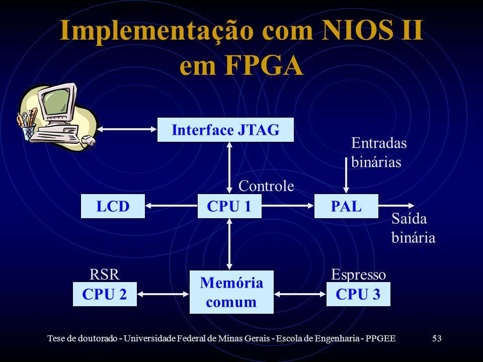 Implementação com NIOS II em FPGA
